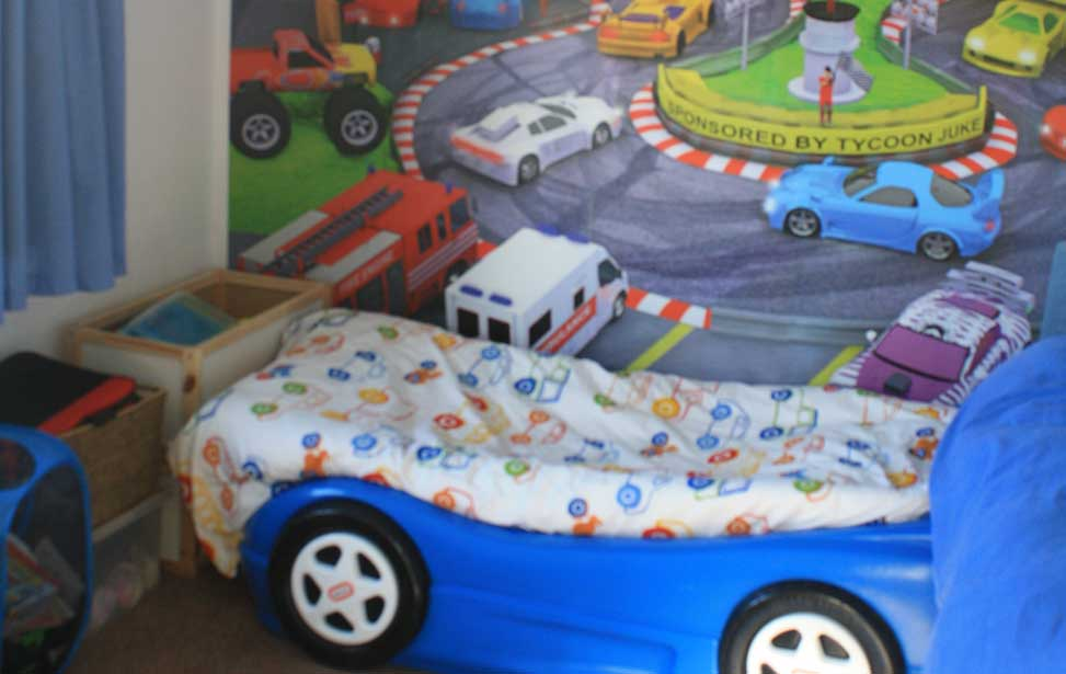 Racing circuit bedroom