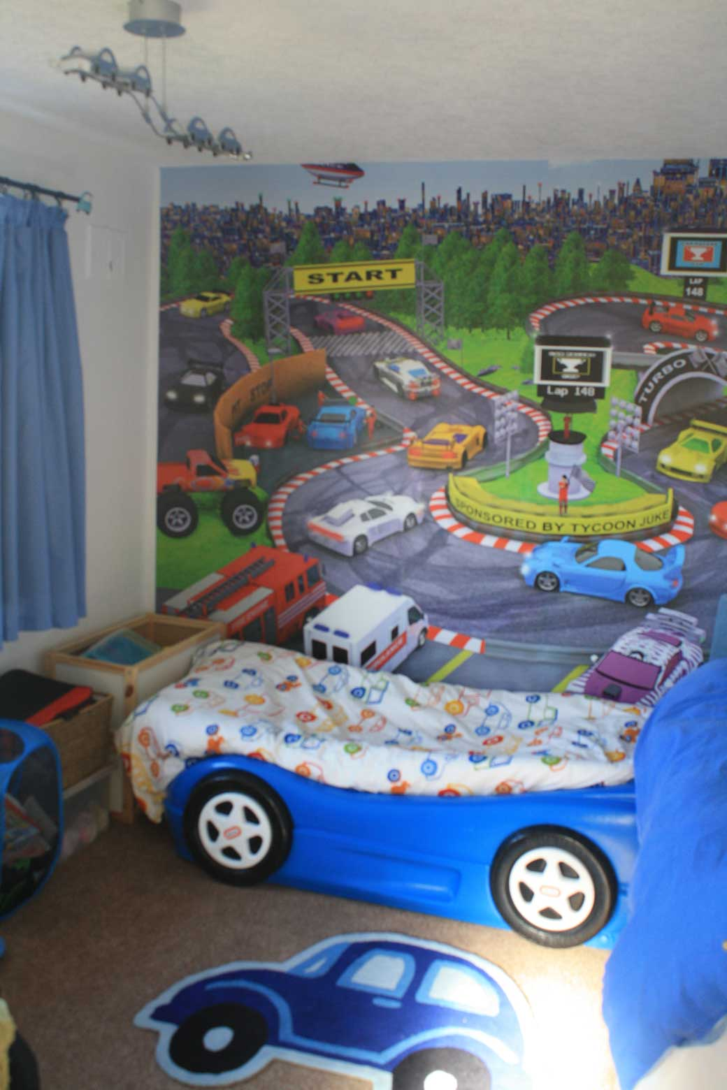 Playround theme bedroom wall mural